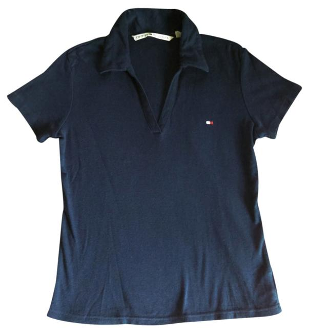 Preload https://item5.tradesy.com/images/tommy-hilfiger-navy-blue-v-neck-polo-tee-shirt-size-4-s-1243509-0-0.jpg?width=400&height=650