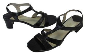 Easy Spirit Leather Size 7.50 M (usa) Black Sandals