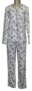 Sleepwear Brand New Long Sleeve Knit Pajama Set, Ivory, sz S (4-6)