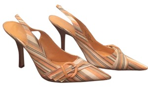 Nine West Multi-Color Pastels Orange Pumps