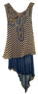 Jean-Paul Gaultier Top Blue/Beige