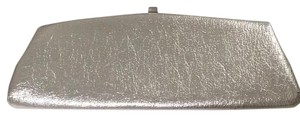 Metallic Formal Edgy Glam Silver Clutch