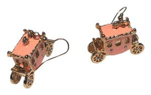 Betsey Johnson Betsey Johnson Pink & Gold Carriage Earrings E201