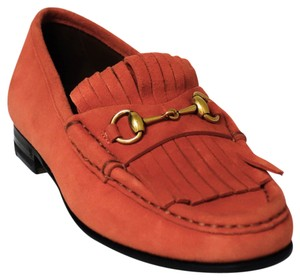 Gucci 351305 Loafer Dark Orange Flats