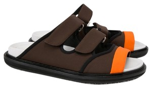 Marni Brown and Orange Sandals