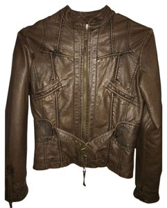 Max Studio Brown Leather Jacket