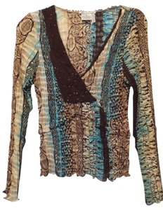 Alberto Makali Lightweight Sequin New Tunic Top Multi-Color