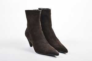 Prada Suede Pointed Toe Brown Boots