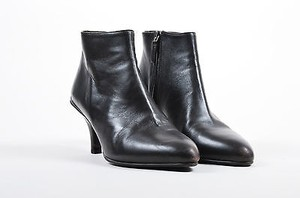Prada Dark Leather Cone Brown Boots