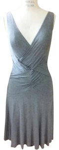 Bailey 44 short dress Grey Knit Stretchy Ruching on Tradesy