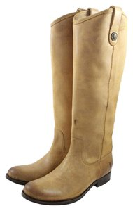 Frye Fyre Melissa Button Yellow Tan Boots