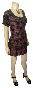 Gioia short dress green, brown, burgundy Fashion Size Medium P1957 on Tradesy