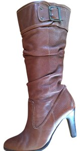 Matisse Leather Brazil Pull-on Buckle Like New Brown Boots