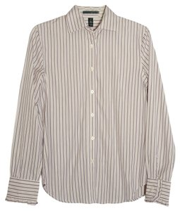 Lauren Ralph Lauren Button Down Shirt purple, white and green