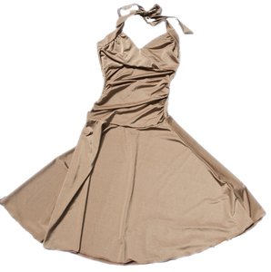 Velvet Torch Metallic Pin-up Tea Length Sheen Halter Dress