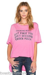 Wildfox Couture Cooking Rules Pizza Dress In Dirty Bogainvillea T Shirt Pink