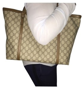 Gucci Tote in Beige And Ebony
