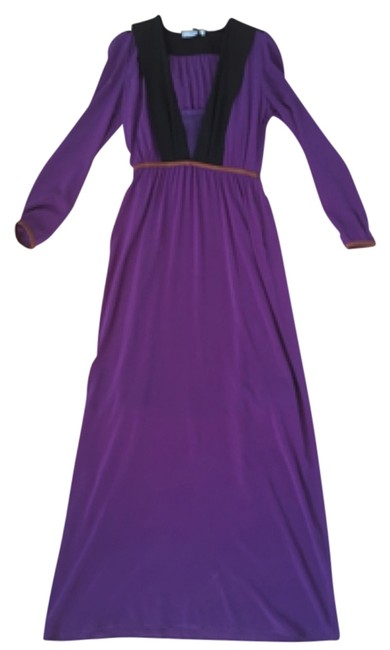 Preload https://img-static.tradesy.com/item/12439720/prada-purple-new-w-tag-2014-runway-fall-silk-gown-long-casual-maxi-dress-size-2-xs-0-1-650-650.jpg