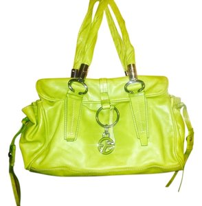 Francesco Biasia Satchel in Lime green