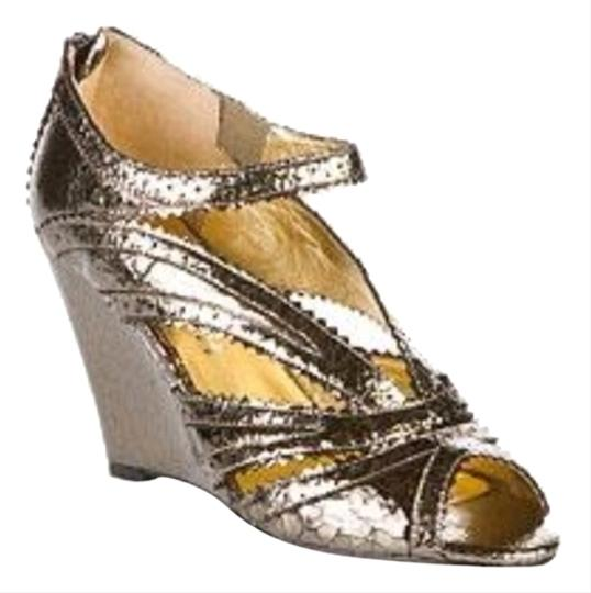 Daniblack Metallic pewter Wedges