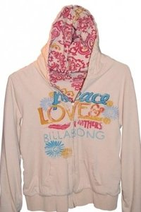 """Billabong Reversible Zippered On One Side With Multi-colors The Other Side Is However Measurements Are 21"""" Underarm To Flat) Sweatshirt"""