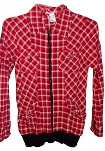 Charlotte Russe Red/White/Check Jacket