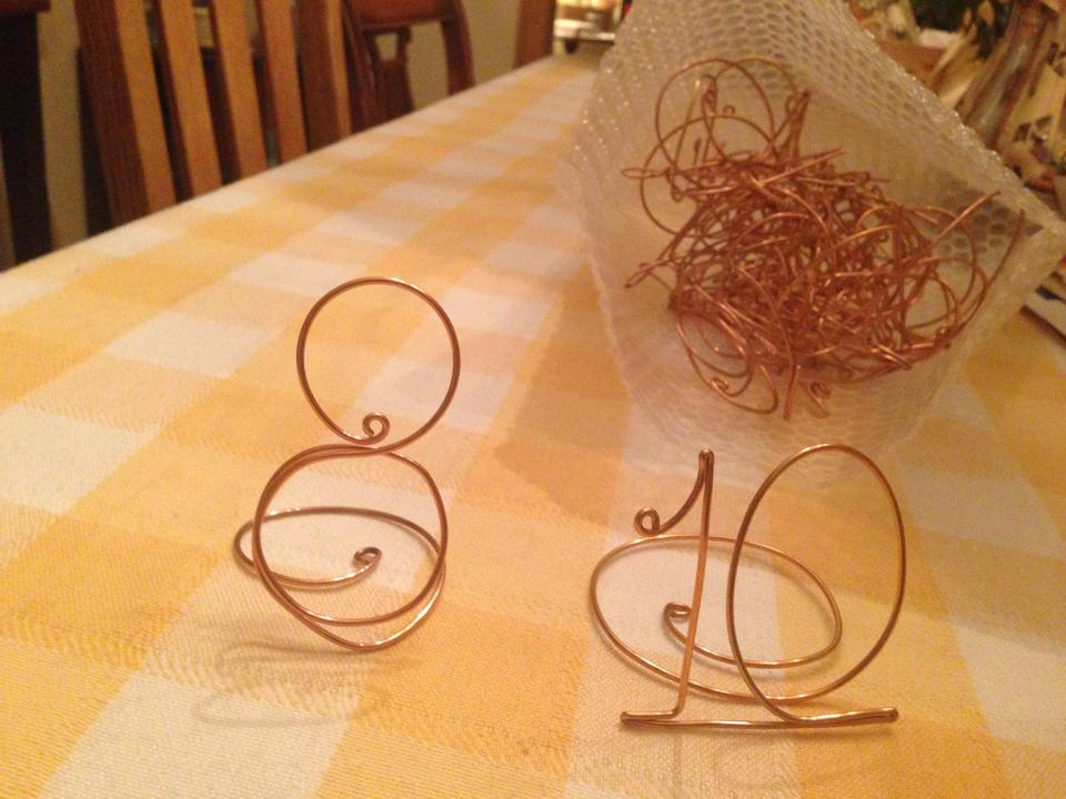 Coppergold whimsical wire table number settings centerpiece tradesy coppergold whimsical wire table number settings centerpiece greentooth Gallery