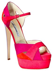 Brian Atwood Pink Multicolor Platforms