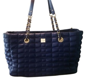 Kate Spade 14k Shoulder Tote in Blue Quilted Leather