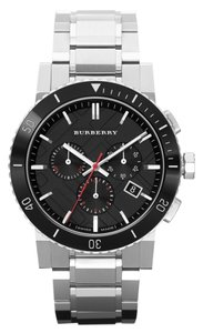 Burberry Nwt Burberry Chronograph Stainless Steel Bracelet 42mm BU9380