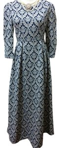 White/Blue Maxi Dress by