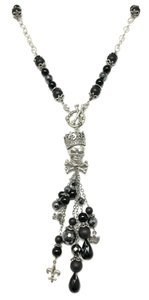 Kinley Skull Sterling Silver Front Toggle Kinley Necklace in Black Onyx