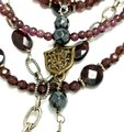 Kinley Sterling silver and Garnet Multi Strand Cross Kinley Necklace Image 3