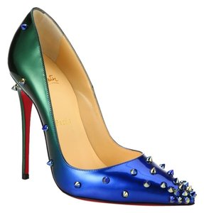 Christian Louboutin In Box GREEN AND BLUE Pumps