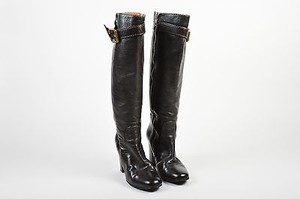 Chloé Chloe Dark Leather Brown Boots