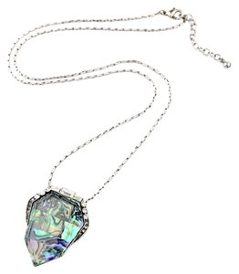 Iridescent Stone Pave Pendant Necklace