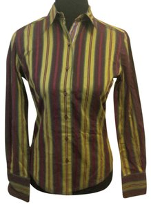 Robert Graham Striped Button Down Shirt Red, Green