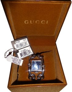 Gucci Gucci Signoria Stainless Steel Black Mother of Pearl Bangle Watch Made in Switzerland Water Resistant