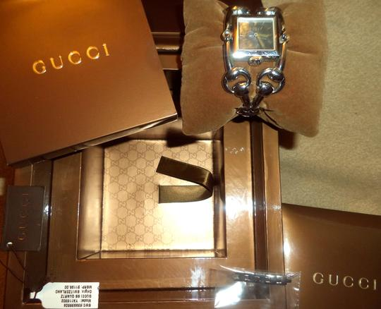 Gucci Gucci Signoria Stainless Steel Black Mother of Pearl Bangle Watch
