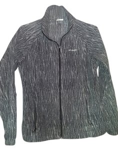 Columbia Ladies Fleece Fitted charcoal grey and white Jacket