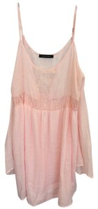 Honey Punch short dress Pink Lace Tank on Tradesy