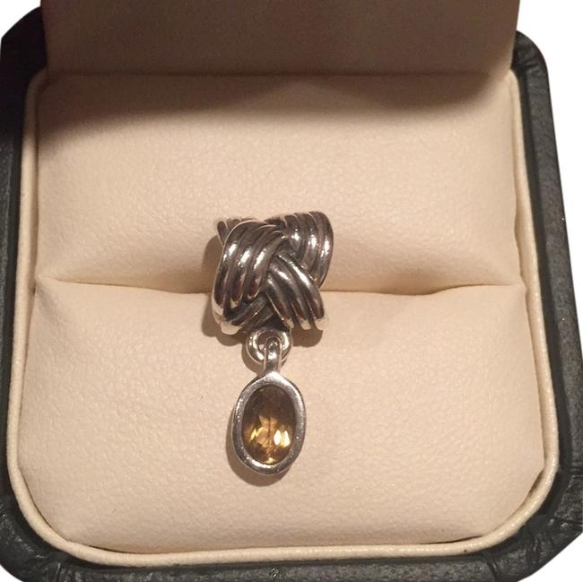 Item - Sterling Silver with Quartz Stone Yellow Tied Together Whisky Charm