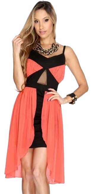 Preload https://item3.tradesy.com/images/lovey-dovey-dress-coral-1244602-0-0.jpg?width=400&height=650