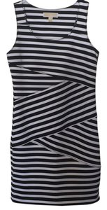 MICHAEL Michael Kors short dress Black and white striped on Tradesy