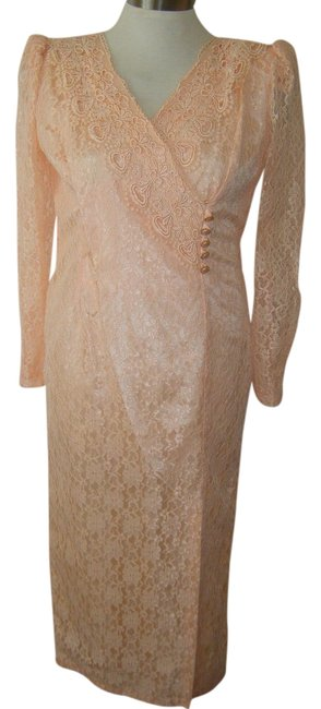 Preload https://item2.tradesy.com/images/anthropologie-peach-15-lace-vintage-romantic-victorian-lined-except-sleeves-mid-length-formal-dress--1244666-0-0.jpg?width=400&height=650