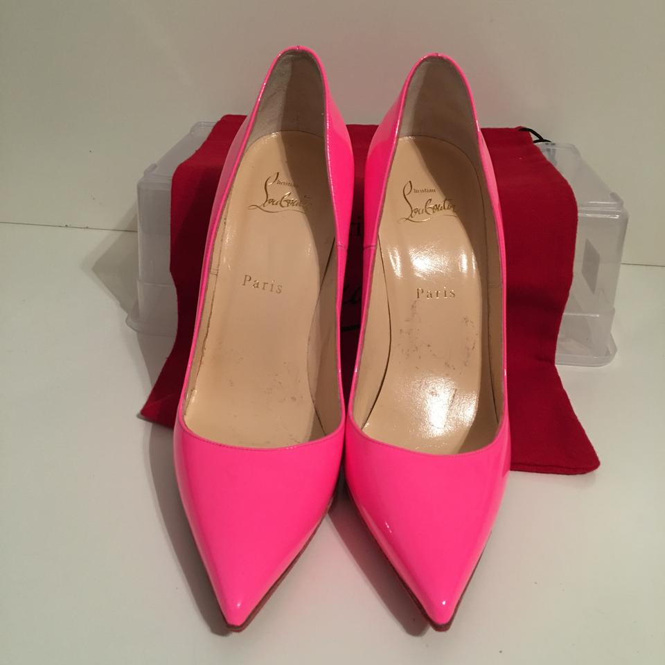 1e9576a31b6 Christian Louboutin Pink So Kate Hot Patent Leather Eu 40 - 9.5 Pumps Size  US 9