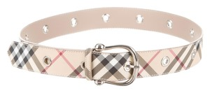 Burberry Blue, beige, multicolor Burberry signature Nova Check monogram plaid print belt New