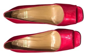Stuart Weitzman Candy apple red patent Pumps