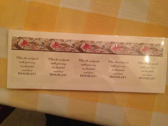 Luggage Tag Signs For Guests To Toss Flowers