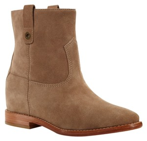 Cole Haan Suede Hidden Wedge Cremini Boots